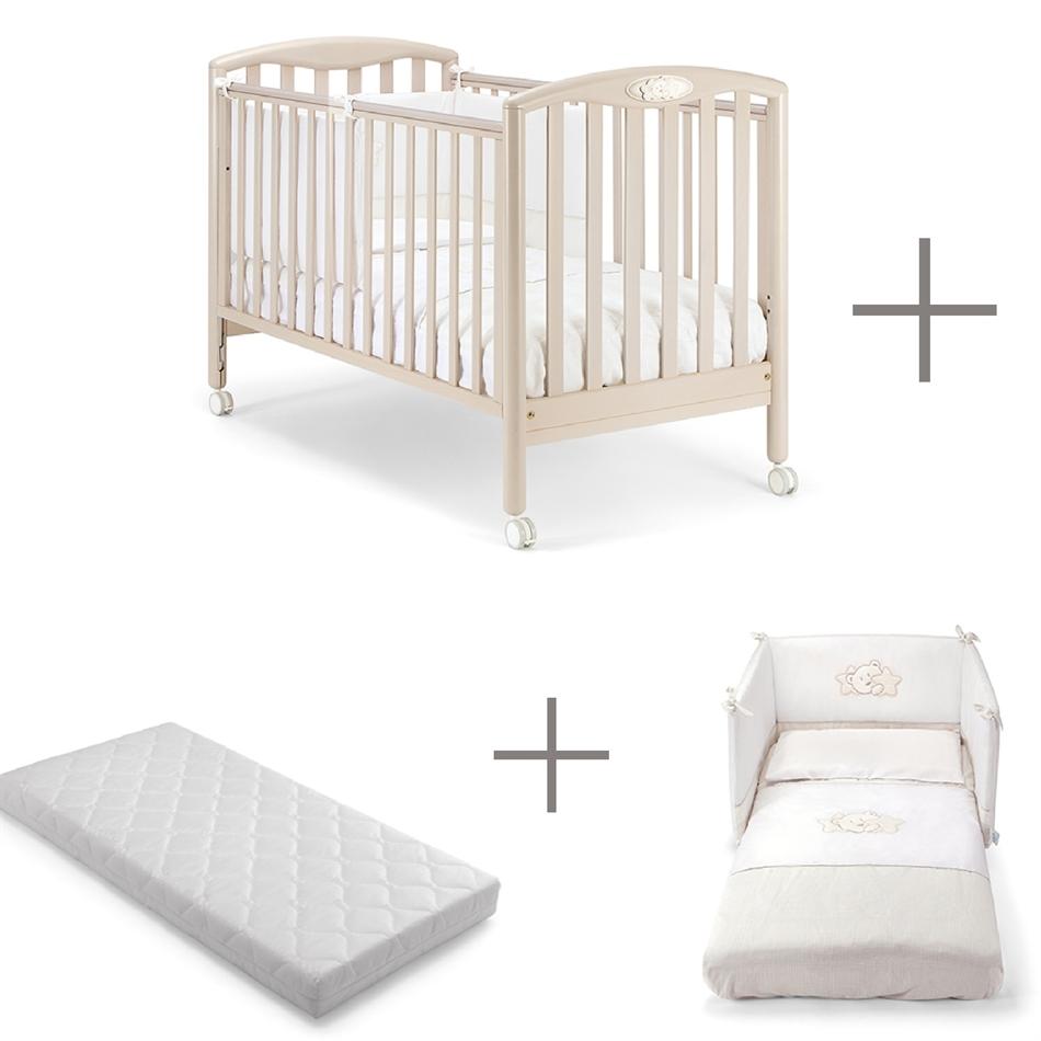 d379e660a83 Κρεβάτι PALI Dado bianco classico & Προίκα μωρού PALI Dado & Στρώμα PALI  Evolution