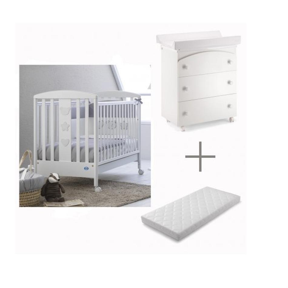 37a71961526 Ολοκληρωμένο βρεφικό δωμάτιο PALI Birillo & Tris white