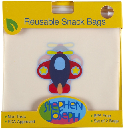 bd02a0f1a4 Stephen Joseph Reusable Snack Bags Airplane σετ 2τεμ.