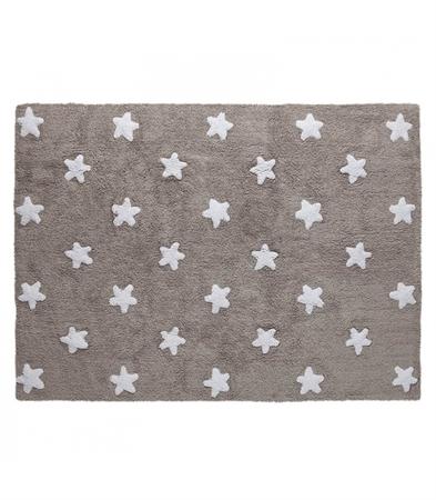Lorena Canals χειροποίητο πλενόμενο στο πλυντήριο παιδικό χαλί Stars  Grey-White e03de62ff3f