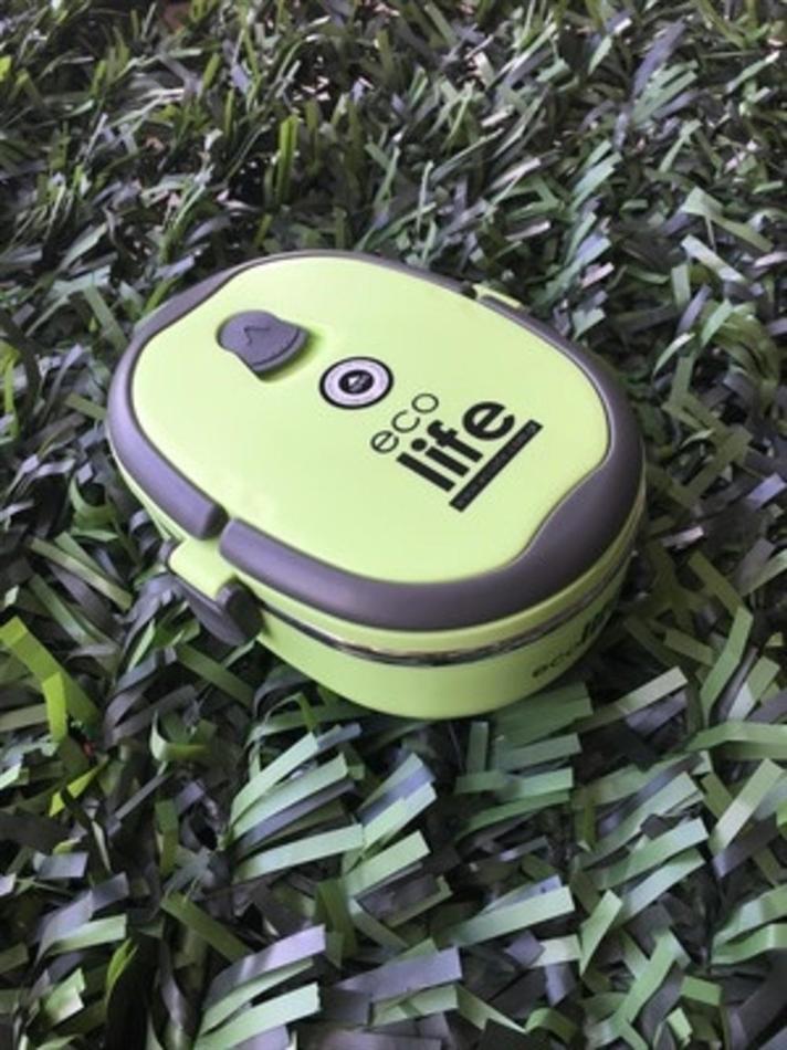 68b4f692c6d Ecolife μεταλλικό-Οικολογικό Inox δοχείο φαγητού Double Wall 800 ml green