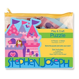 stephen joseph play and colour puzzle 12 Pieces Princees