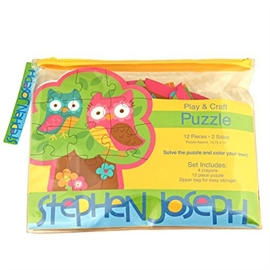 stephen joseph play and colour puzzle 12 Pieces Owl