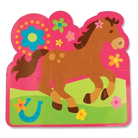 stephen joseph play and colour puzzle 12 Pieces Girl Horse