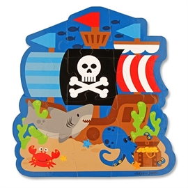 stephen joseph play and colour puzzle 12 Pieces Pirate