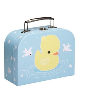 5da911a1ded Little Lovely Company Little suitcase & τσαντάκι φαγητού Duck - SCDUBL11